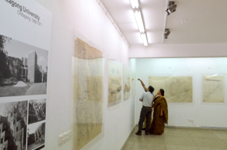 The exhibition on Muzharul Islam's original drawings