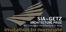 SIA GETZ Prize for Emergent Architecture in Asia