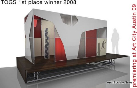 winning design of 2008 Temporary Outdoor Gallery Space Design Competition